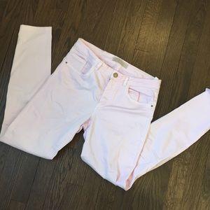 ZARA denim jeans in light pink